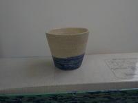 Ⅲー6の2青の入ったカップ - 冬青窯八ヶ岳便り