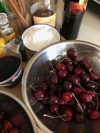 2018年6月夏の保存食レッスンが終わりました。~アメリカンチェリ-の赤ワイン煮 - Blooming Kitchen 坂の上の小さな料理教室
