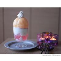 丸ごと桃パフェ - HOSHIZORA DINING
