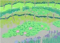 緑まぶしい - たなかきょおこ-旅する絵描きの絵日記/Kyoko Tanaka Illustrated Diary