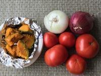 頂戴した自家製トマトと紫玉葱 - やせっぽちソプラノのキッチン2