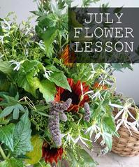 7月レッスンスケジュール Lesson Schedule-Jul - 「想いを伝える幸せの花」by FELICE Flower Design Studio & Regalo