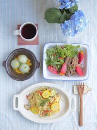 パスタの朝ごはん - 陶器通販・益子焼 雑貨手作り陶器のサイトショップ 木のねのブログ