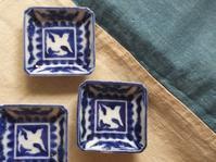 「半分、青い。」古布と「スズメ」の小皿 - Coron's  style