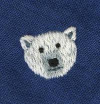 シロクマの刺繍をしました。 - vogelhaus note