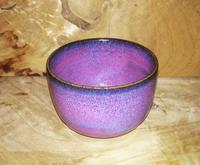 窯変紫焔釉     抹茶茶碗 - 陶芸ブログ 限 無 窯    氷裂貫入青瓷の世界