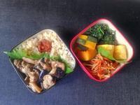 7/3茄子と豚小間の生姜焼き丼弁当 - ひとりぼっちランチ