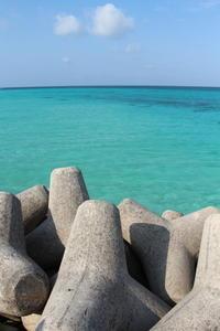 過去の国内旅行 宮古島 テトラポットと海 - ゆらりっぷ -yurari trip-