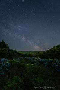 銀河とホタルの夜銀河Ⅱ - デジタルで見ていた風景