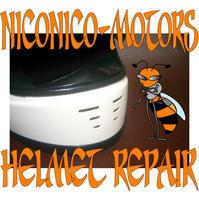 ARAI Rapide Helmet Repair ヘルメットリペア ヘルメット修理店 ニコニコモータース - HELMET REPAIR ヘルメットリペア ニコニコモータース