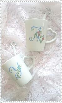 オーダーのWedding Mug☆ - Italian styleの磁器絵付け