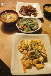 お惣菜の晩ごはん - 週末は晴れても、雨でも
