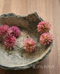 理想的な色に染まりました~アカツメ草 - 布の花~花びらの行方 Ⅱ