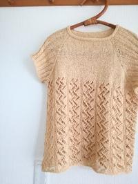 夏物セーターが完成です - ニットの着樂