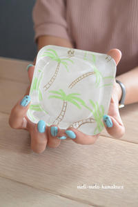 ◆【レッスンレポート】ネイルとおそろい♪リゾート気分なガラストレー - フランス雑貨とデコパージュ&ギフトラッピング教室 『meli-melo鎌倉』