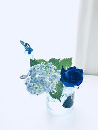 色水あそび & leafpunch - **おやつのお花*   きれい 可愛い いとおしいをデザインしましょう♪