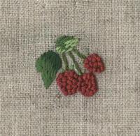 ラズベリーの刺繍をしました。 - vogelhaus note