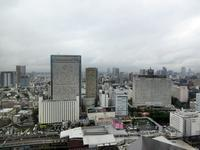 【ストリングスホテル】ホテルの26階から高輪方面を眺める - お散歩アルバム・・まぶしい夏空