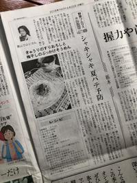 読売新聞に掲載!「きゅうり」のコラムとレシピ - Coucou a table!      クク アターブル!