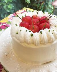 さくらんぼのミニショートケーキ - 調布の小さな手作りお菓子教室 アトリエタルトタタン
