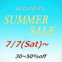 SUMMER SALE START !!のお知らせ - acoustics harvest