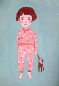 パジャマ - たなかきょおこ-旅する絵描きの絵日記/Kyoko Tanaka Illustrated Diary