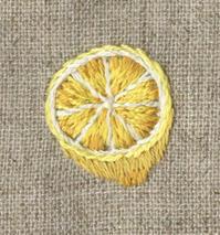 レモンの刺繍をしました。 - vogelhaus note