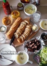 ポークリブBBQの残りでサンドイッチナイト - Kyoko's Backyard ~アメリカで田舎暮らし~
