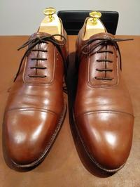 【Before/After】Saint Crispin's 雨に濡れた靴のクリーニング② - Shoe Care & Shoe Order 「FANS.浅草本店」M.Mowbray Shop