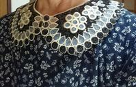 7月7日、手作りの綿ワンピース付け襟コーディネート - 楽しく元気に暮らします