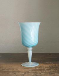 ミルクガラス スワール模様 グラス 高26.2cm   / F394 - Glicinia 古道具店