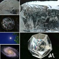 水晶の世界 - 菫青石に天の川 小さな庭から地球を眺める