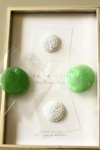 Swing ピアスは緑が人気 - 神戸インテリアコーディネーターのグルーデコ®教室☆Vita Felice☆(JGA認定校)