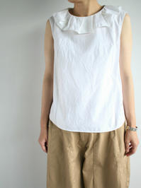 R&D.M.Co-HIGH COUNT C/L FRILL NO SLEEVE SH - 『Bumpkins putting on airs』
