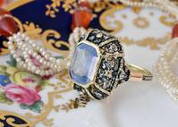 ロマンティックなサファイア&ダイヤモンドリング - AntiqueJewellery GoodWill