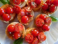 チェリートマトのブルスケッタ (Bruschetta) - エミリアからの便り