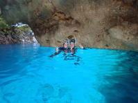 7月8日台風前でも問題なし - 沖縄・恩納村のダイビング・青の洞窟体験ダイビング・スノーケルご紹介