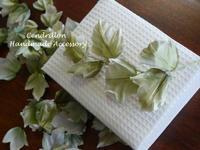 布花さわやかなアイビー - 愛知 豊橋 布花アクセサリーCendrillon