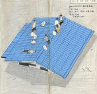2018.07.08.   豪雨  daily drawing - yuki kitazumi  blog