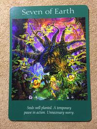 月曜のメッセージ:エンジェルタロットカード「Seven of Earth 」大天使ミカエルからのメッセージ - アトリエkeiのスピリチュアルなシェアノート