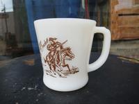 50's Fire King D Mug Davy Crockett  - DELIGHT CLOTHING&SUPPLY