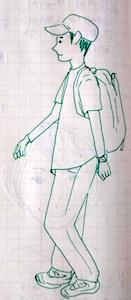 アニメ版黒子 - たなかきょおこ-旅する絵描きの絵日記/Kyoko Tanaka Illustrated Diary