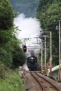 武州日野駅を通過して上り坂に向かうC58 - 秩父・2018年 - - ねこの撮った汽車