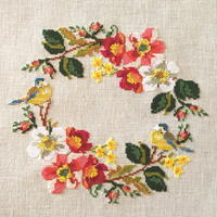 Spring Wreath 完成 - あくびノオト