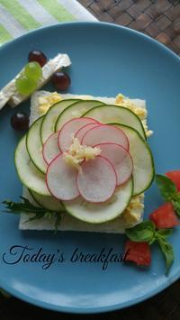 オープンサンドの朝ごぱん - 料理研究家ブログ行長万里  日本全国 美味しい話