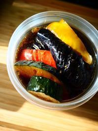 お惣菜お裾分け・夏野菜の揚げ浸し - Kitchen diary