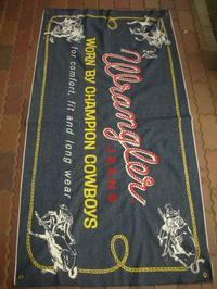 1960'S〜 WRANGLER STORE ADVERTISING DENIM BANNER - ROCK-A-HULA Vintage Clothing Blog
