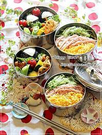 冷やし中華でW炭水化物弁当と今夜はネギトロ丼♪ - ☆Happy time☆