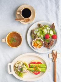 イングリッシュマフィンで朝ごはん - 陶器通販・益子焼 雑貨手作り陶器のサイトショップ 木のねのブログ