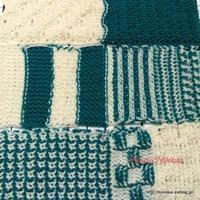 アフガン編みのクッション3つ目その8 - ルーマニアン・マクラメに魅せられて